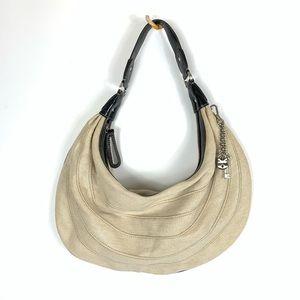 LIZ CLAIBORNE Beige Metallic Shoulder Bag Purse